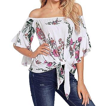 Dream_Mimi Fashion - Blusa para Mujer con Estampado de Campana DE 3/4: Amazon.es: Electrónica