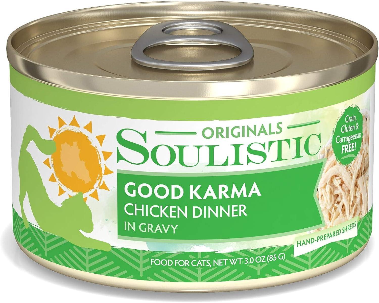 Soulistic Originals Good Karma Chicken Dinner in Gravy Wet Cat Food, 3 oz., Case of 12, 12 X 3 OZ