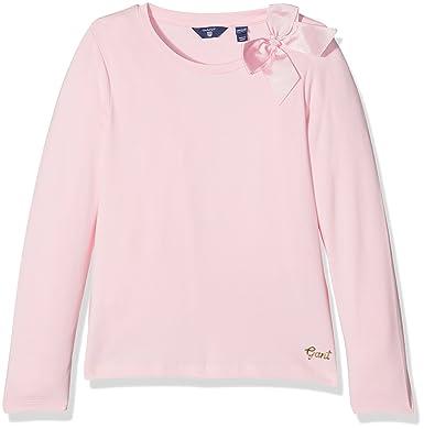 eb0f69d347cf Gant Girl Bow Long Sleeved T-Shirt Top, (California Pink), 9-10 Years  (Size: 134/140): Amazon.co.uk: Clothing