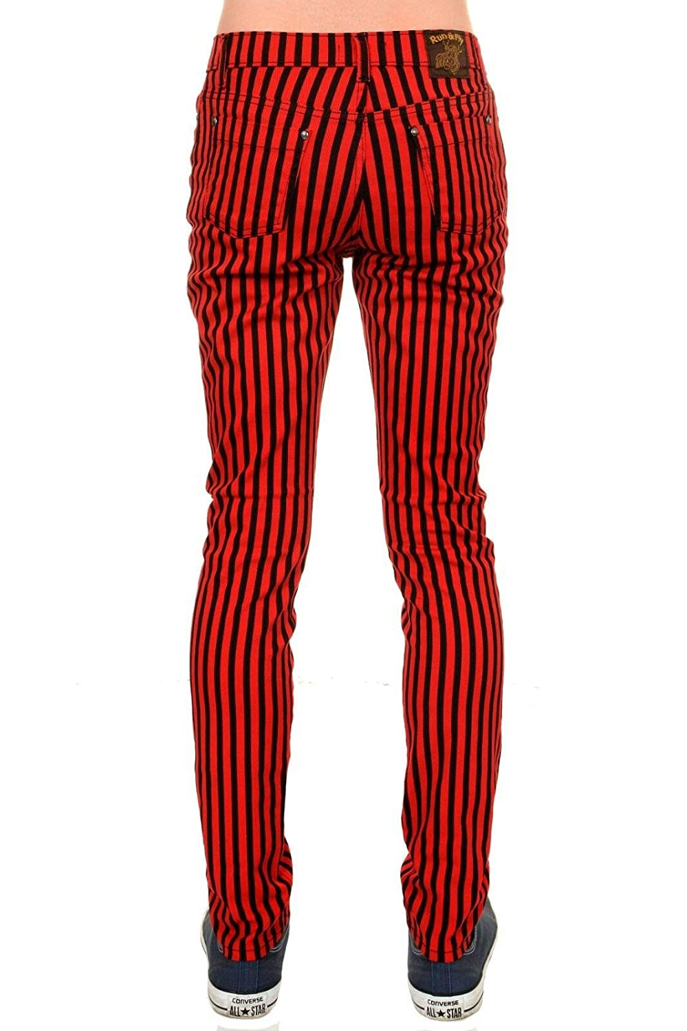 Red and black striped indie something