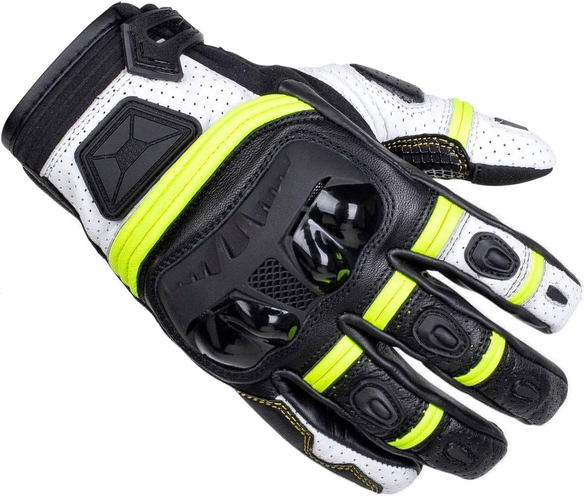 Black//White Cortech Mens Speedway Chicane St Glove Md