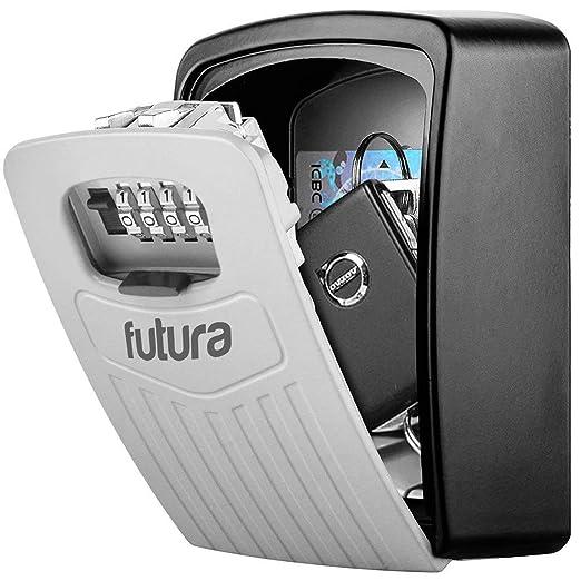 Futura® Grande Caja fuerte de pared para llaves y Tarjetas plásticas - Para exteriores - 4 dígitos de seguridad 145 x 105 x 50mm