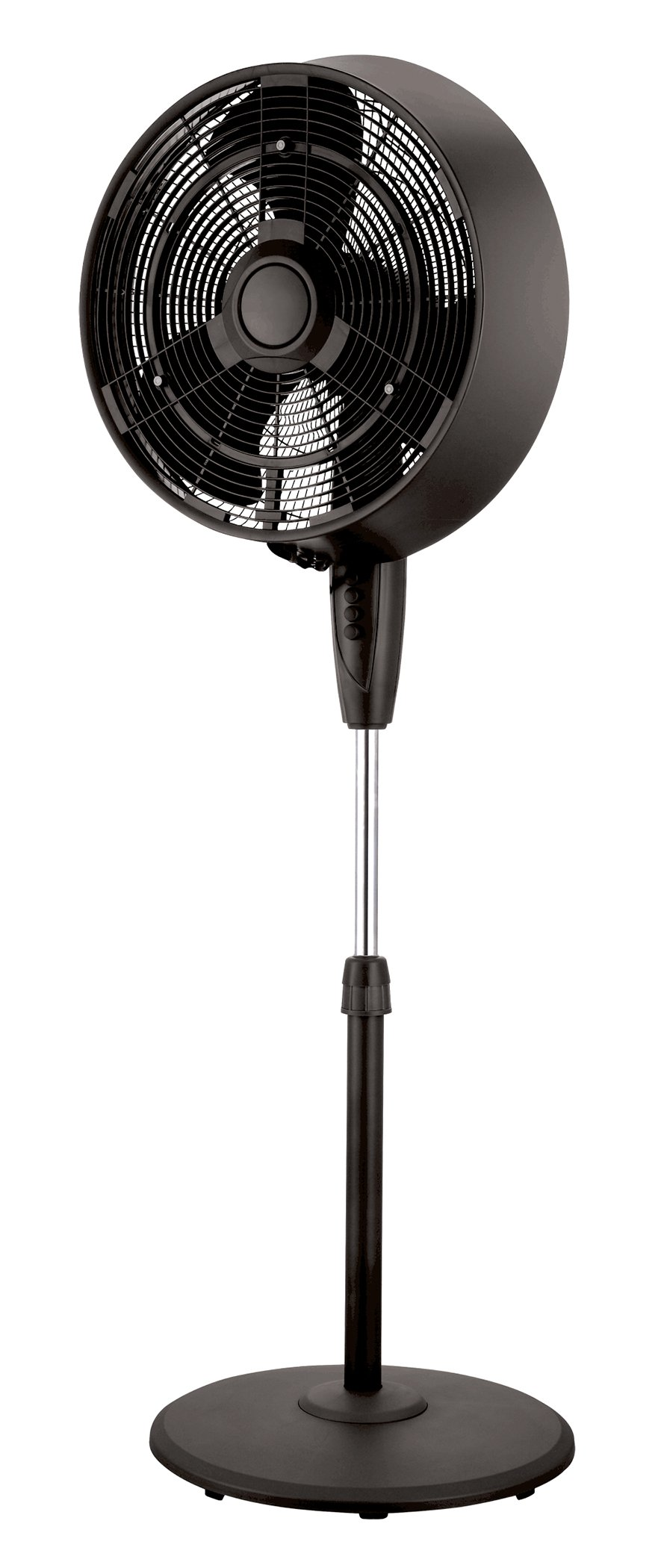 Pelonis FS45-9L 18'' 3-Speed Oscillating Misting Pedestal Fan 3, Black