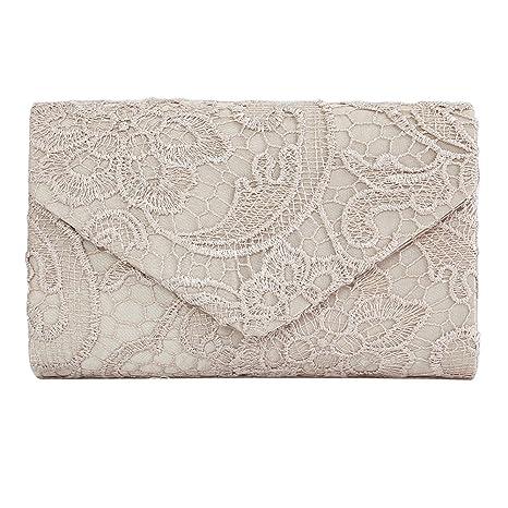 Kleidung & Accessoires Damentaschen Gut Damen Clutch Satin Handtasche Brauttasche Elegante Abendtasche Schwarz