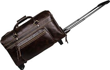Genda 2Archer Travel Leather Duffle Bag Carry on Handbag