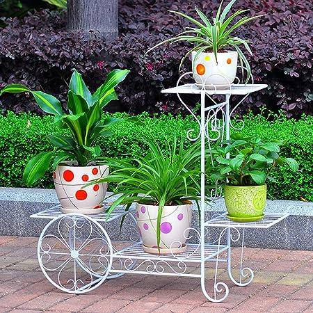 Decoracion jardin Soporte de exhibición de almacenamiento de la planta multifuncional del balcón de la sala