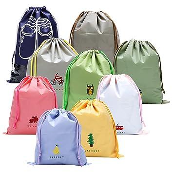 14720cf9377eb 9 PCS Sac Imperméable pour Vêtement Chaussure,Joli Bagages Organisateurs pour  Enfant 3 Tailles pour