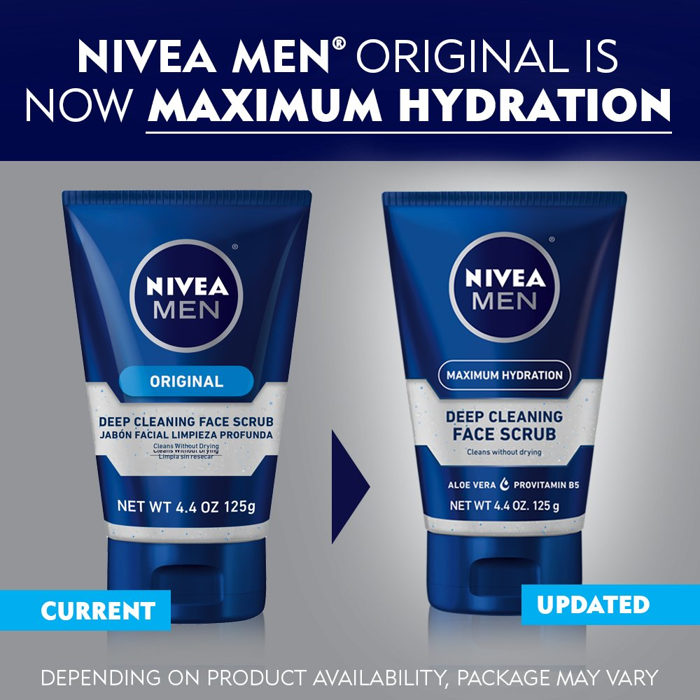 NIVEA Men Deep Cleaning Face Scrub 4.4 Ounce (Pack of 3) (Packaging May Vary) by Nivea Men (Image #7)