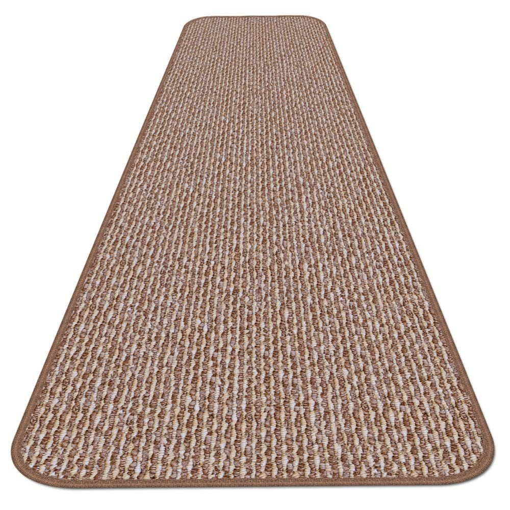 House, Home and More Skid-resistant Carpet Runner - Praline Brown - 8 Ft. X 27 In. - Many Other Sizes to Choose From