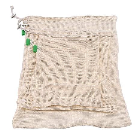 Mvude - Bolsa de malla reutilizable para productos de ...