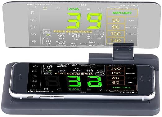 Lescars Smartphone-HUD: Head-up-Display V3 für Smartphones und iPhones bis 13,9 cm (5,5