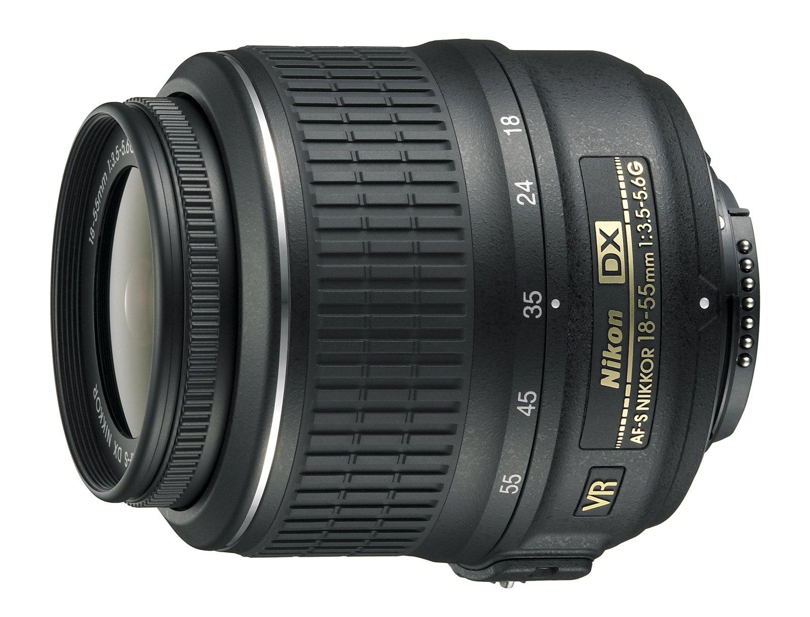 Nikon 18-55mm f/3.5-5.6G AF-S DX VR Nikkor Zoom Lens - White Box (New) (Bulk Packaging) by Nikon
