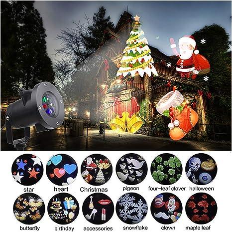 Proyector de Nevadas LED Navidad mpermeable Decoración Luz de ...