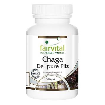 Chaga 500 mg - 1 mes - VEGAN - ALTA DOSIS - 90 cápsulas - Inonotus oblicuo - polvo de hongo: Amazon.es: Salud y cuidado personal