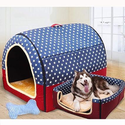 Nido para Mascotas, Perrera Oxford Antideslizante extraíble y Lavable, casa de Gato Interior cálida