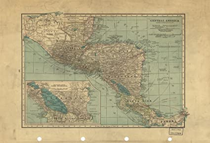 Map Of America 1900.Amazon Com Vintage 1900 Map Of Central America Central America