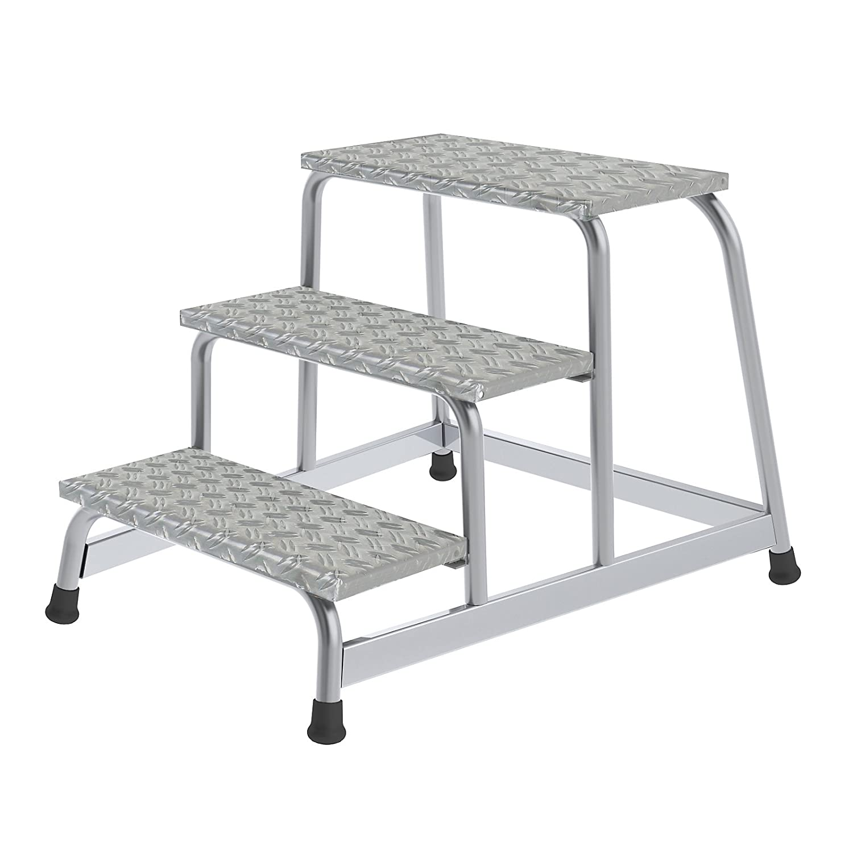 5 Stufen Aluminium-Arbeitspodest 3,00 m starr 5 Stufen Arbeitsh/öhe bis ca