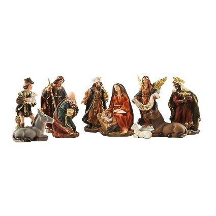771dee4cdf3 Brubaker – Decoración Set de Belén de Navidad 5 (Set de Belén 11 figuras en