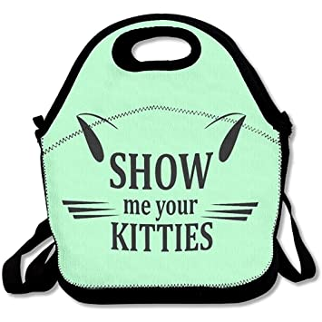 652521e7adfd Amazon.com - Starogs Show Me Your Kitties Portable Lunch Box Tote ...