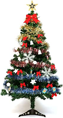 Guojia 5ft Christmas Tree Suit, DIY Tabletop Artifical Christmas Tree Decoration for Kids,Suitable for Evening Party, Office, Hotel, Family Decoration