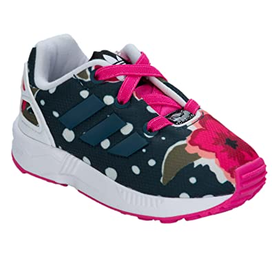 bea5dba71 adidas Girls Originals Infant Girls ZX Flux Print Trainers in Pink - 6  Infant