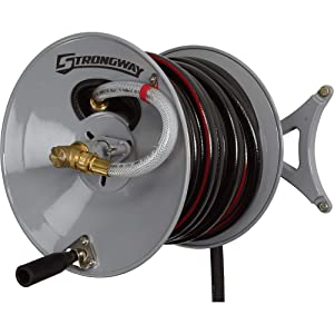 Strongway Wall-Mount Garden Hose Reel