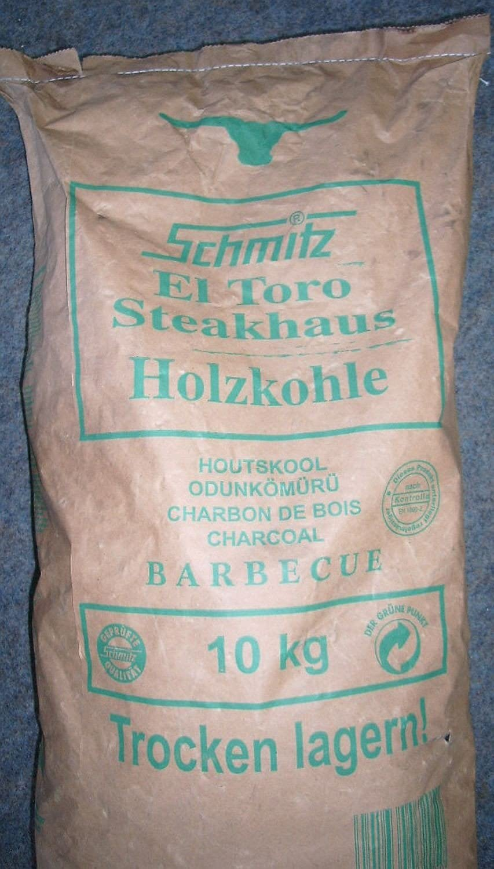 Holzkohle Grillkohle El Toro Steakhaus 10kg