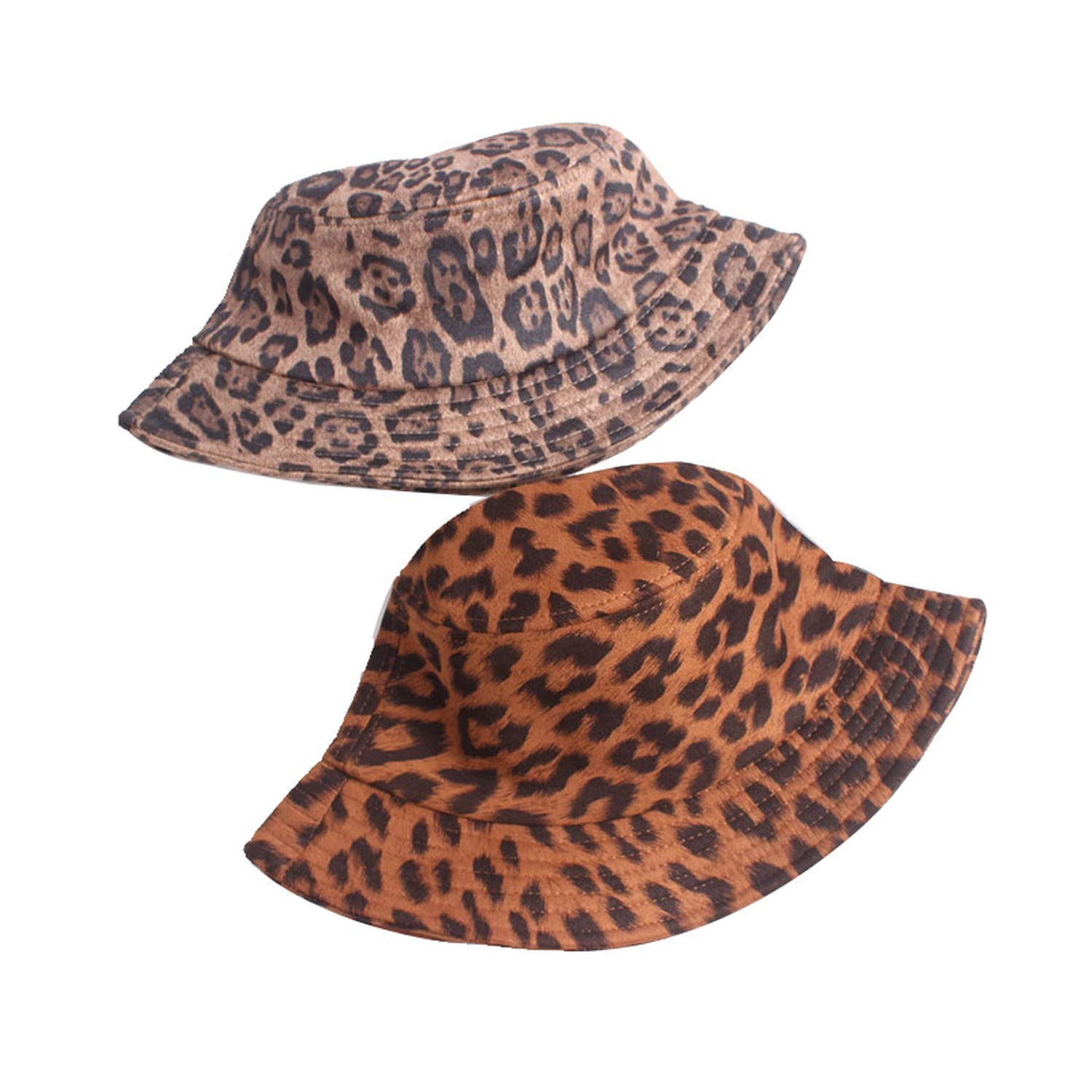Autumn and Winter New Leopard Bucket hat Fashion Element Mens and Womens General Painter Cap Classic Shallow