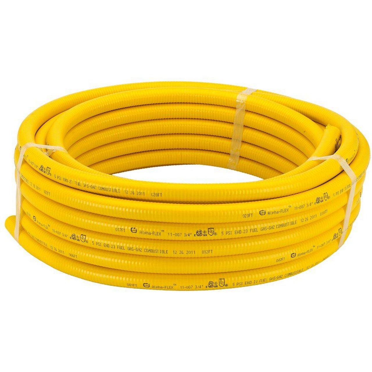 HomeFlex 11-00775 3/4-Inch x 75-Feet Corrugated Tubing, Stainless Steel by HomeFlex