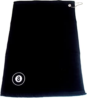 BLACK 8 BALL POOL CUE TOWEL WITH BELT CLIP** by SGL