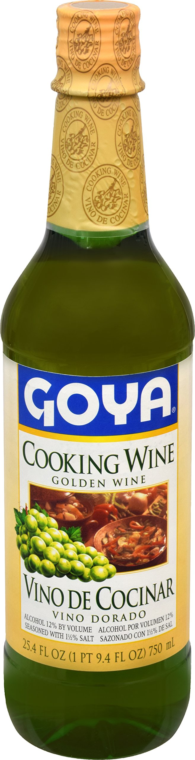 Goya Foods Golden Cooking Wine, 25.4 Ounce (Pack of 12)