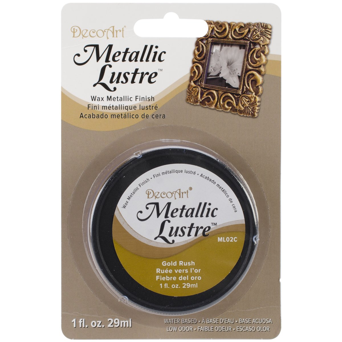 DecoArt ML02C-28 Metallic Lustre Wax, 1-Ounce, Gold Rush Notions
