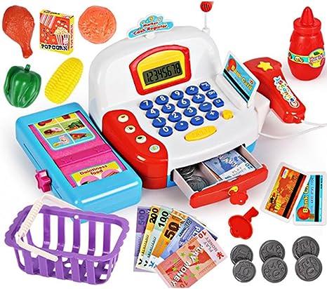 Caja registradora de juguete con escáner de pago, juego de ...