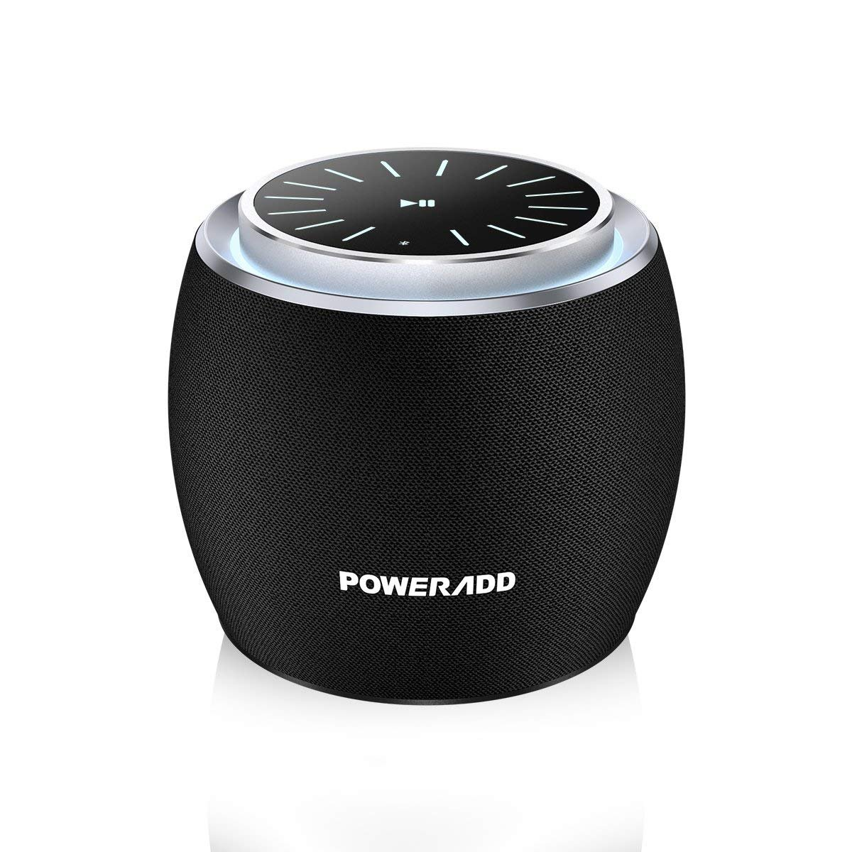 Poweradd Dee-G Mini,Super-Portable Bluetooth/Wireless Speakers,Rotating Volume Knob,Full Range Sound,Fabricated Exterior,5W Speakers,33-Foot Bluetooth Range,8 Hours Playtime,Built-in Mic,Black