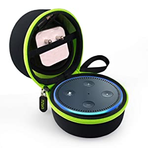 Tizum EchoDotB Travel Portable Hard Case Pouch for Echo Dot (Black)