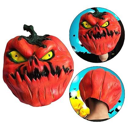 Halloween Máscara de Calabaza Moon mood Emulsión Máscara de Cabeza de Calabaza Halloween Fiesta Traje