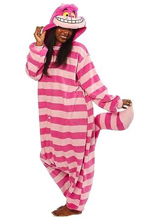 0b8d879b6 Amazon.com: Cheshire Cat Kigurumi - Adult Costume: Clothing
