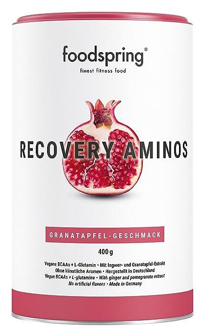 foodspring Recovery Aminos, Granada, La recuperación adecuada nunca había sido tan saludable, Fabricado en Alemania