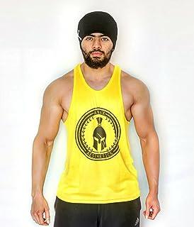 0cbea518f4c34 Anax Aesthetics Yellow   Black Dry-Tuff Performance Big Logo Bodybuilding