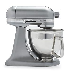 KitchenAid KSM3316XCU Artisan Mini Stand Mixers, 3.5 quart, Contour Silver