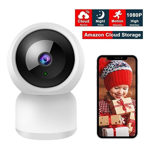 Uberwachungskamera WLAN IP Kamera FHD 1080P, YUNDOO WiFi Kamera mit Nachtsichterkennung, Amazon Cloud Speicher, 1 Wege Audio,