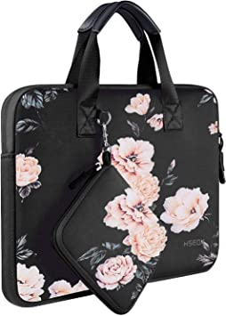 Gray Rose MOSISO Water Repellent Neoprene Sleeve Bag Cover Compatible 13-13.3 Inch Laptop with Small Case