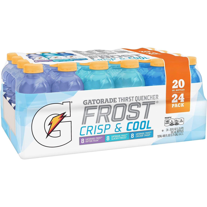 Gatorade Sports Drinks Frost Variety Pack (20 fl. oz. bottles, 24 ct.) (pack of 6)