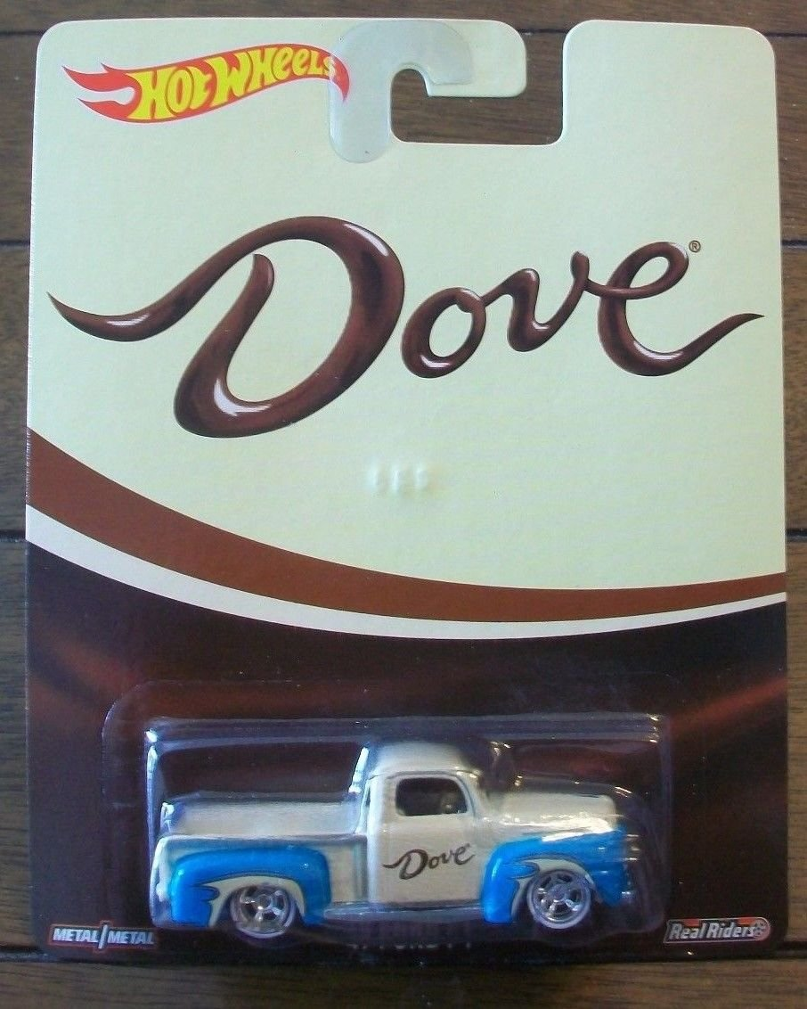 caliente  wheels DOVE real real real riders '49 ford F1 RARE by Hot Wheels 0e8a0e