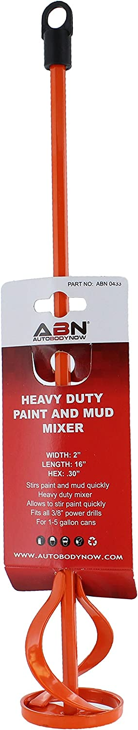 ABN Paint, Compound, Sealer, Cement Mixer for 1-5 Gallon Buckets 3/8in Drive 16.5in long
