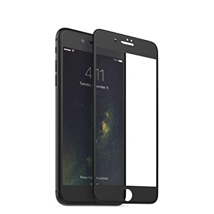 pretty nice e5263 5fb6e mophie 3D Glass Screen Protector – Compatible with iPhone 8 Plus and iPhone  7 Plus – Complete Screen Coverage For Maximum Protection – Black