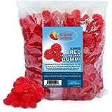 Bulk Gummy Bolsa de frambuesas Candy, 1,2 Lb. Rojo: Amazon ...