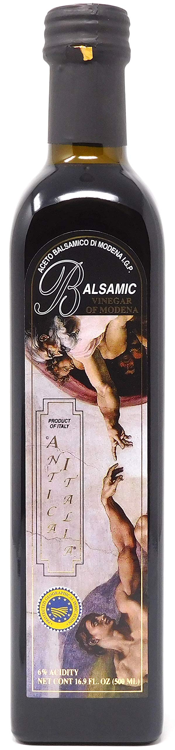 Antica Italia Aged Italian Balsamic Vinegar of Modena IGP 16.9 Ounce (500ml) by Antica Italia