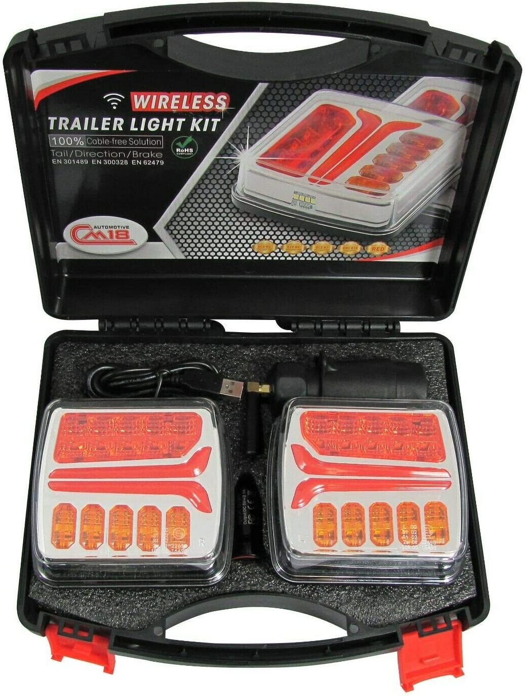 flexzon Wireless Led Magnetic Lights Kit For Trailer Tractor Agricultural Vehicles E9