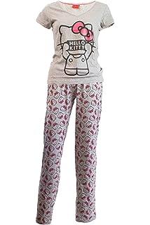 Peanuts Halloween Snoopy Charlie Brown Damen Pyjama Minky Fleece Schlafhose blau